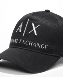 Ax Embroidered Hat Preto