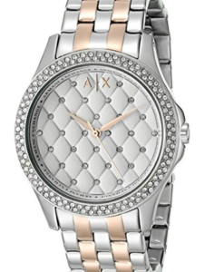 Armani Exchange Smart Womens Two-Toned Stainless Steel Watch