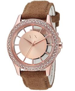 Armani Exchange Womens Suede Smart Watch
