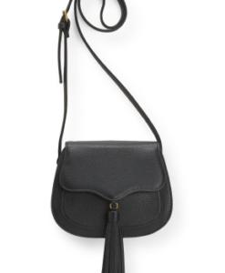 Bolsa Aeropostale Saddle Crossbody Bag Preta