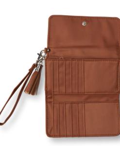 Bolsa Aeropostale Tassel Wristlet Wallet Marrom