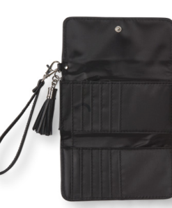 Bolsa Aeropostale Tassel Wristlet Wallet Preta