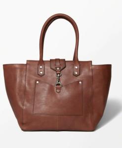 Bolsa A&F The City Carryall Genuine Leather Bag