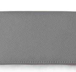 Bolsa Aeropostale Zippered Faux Leather Wallet Cinza