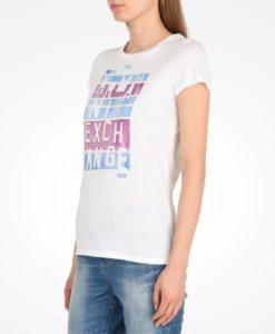 Camiseta Armani Exchange Broken Armani Print Water Color Tee