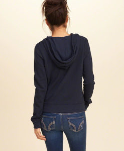 Agasalho Hollister Lace-Up Graphic Hoodie