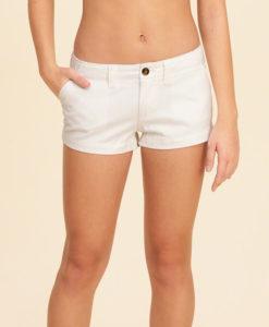 Short Hollister Low-Rise Chino Shorts Branco