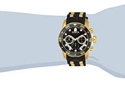 Relogio Invicta Men's 6981 Pro Diver Analog Swiss Chronograph Black Polyurethane Watch