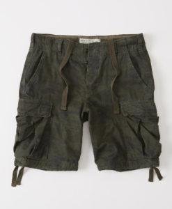 Bermuda Abercrombie & Fitch Cargo Shorts Dark Khaki