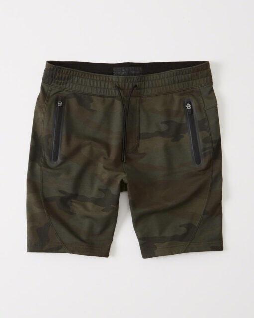Bermuda Abercrombie & Fitch Flat Sport Fleece Shorts Camo