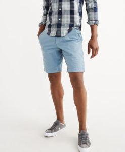 Bermuda Abercrombie & Fitch Flat-front Garment Dye Shorts Azul