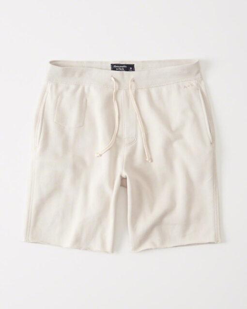 Bermuda Abercrombie & Fitch Sport Burnout Fleece Shorts Cream,