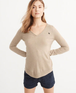 Blusa Abercrombie & Fitch Cashmere Silk V-Neck Sweater