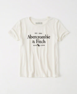 Blusa Abercrombie & Fitch Cozy Logo Graphic Tee White