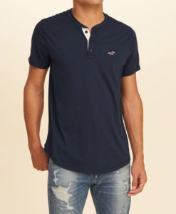 Polo Hollister Must-Have Henley Navy,