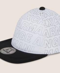 ALLOVER LOGO HAT white