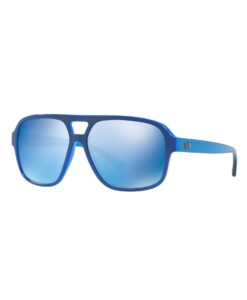 Pool Blue Bold Aviator Sunglasses