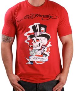 Ed Hardy By Christian Audigier Magic Skull Men's T-Shirt Crewneck Tee
