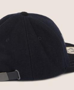 EMBROIDERED SCRIPT LOGO HAT blue 2