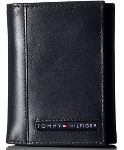 Tommy Hilfiger Men's Leather Cambridge Trifold Wallet navy 2